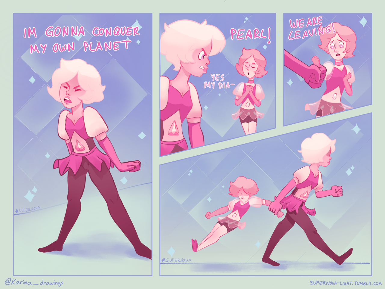 I Have The Feeling That Pink Diamond Treats Her Pearl Even