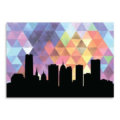 Americanflat PaperFinch Designs Oklahoma City Triangle by Amy Braswell Graphic Art Size: