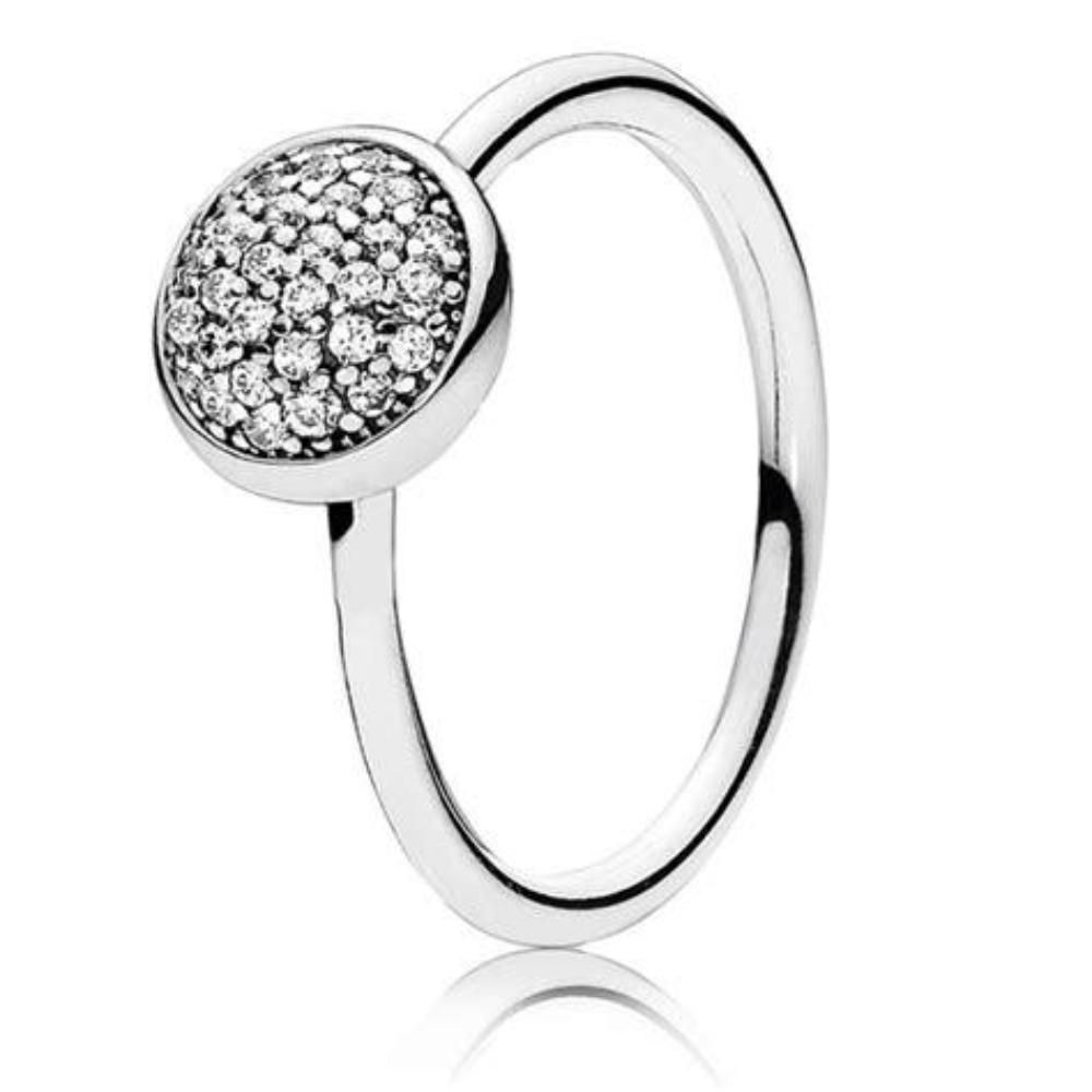 85ba194d523ac New Authentic Pandora 925 Silver Dazzling Droplet Ring 191009CZ Size ...