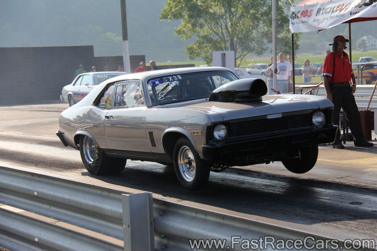Drag cars drag race cars novas picture of silver nova drag car popping