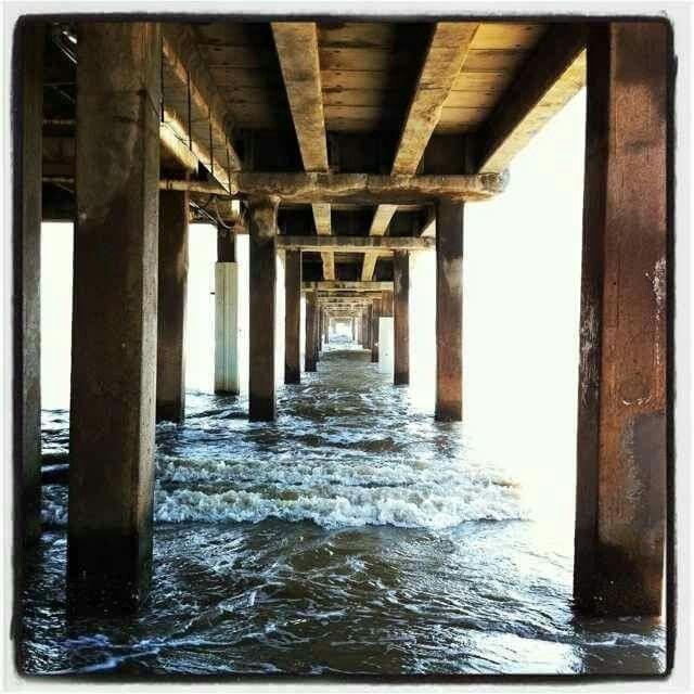 North Padre Island, Texas Under The Bob Hall Pier