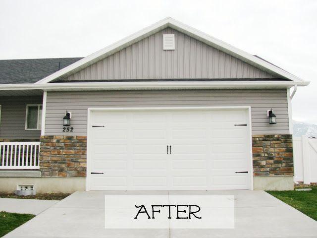Garr Den Of Love Garage Door Makeover Garage Doors Carriage Style Garage Doors Door Makeover