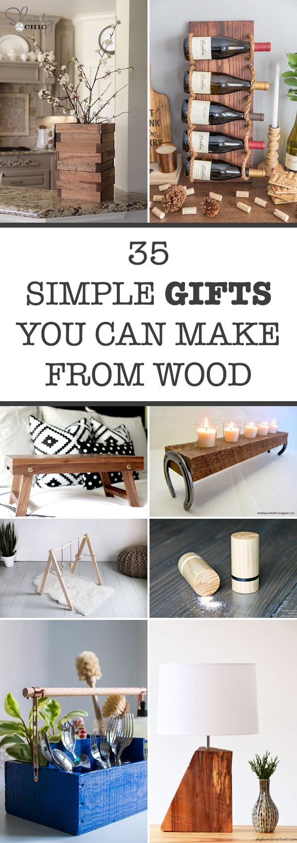 35 Simple Gifts You Can Make From Wood Wooden Diy Woodworking Projects Furniture Woodworking Projects That Sell