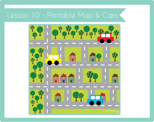 Crafty Kids Academy: Lesson 10 - Printable Road Map & Cars