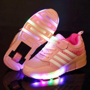 Nuevo Niño Jazzy Júnior Niñas niños Zapatillas Zapatos Del Patín De Ruedas  de Luz LED Para Los Niños Embroma las Zapatillas de deporte Con  Ruedas(China ... bd68cb66c0ab