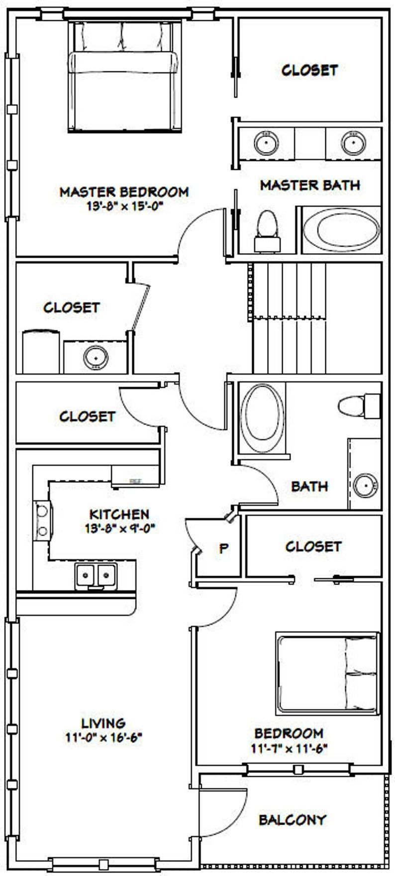 44x48 House 2Bedroom 2.5Bath 1,645 sq ft PDF