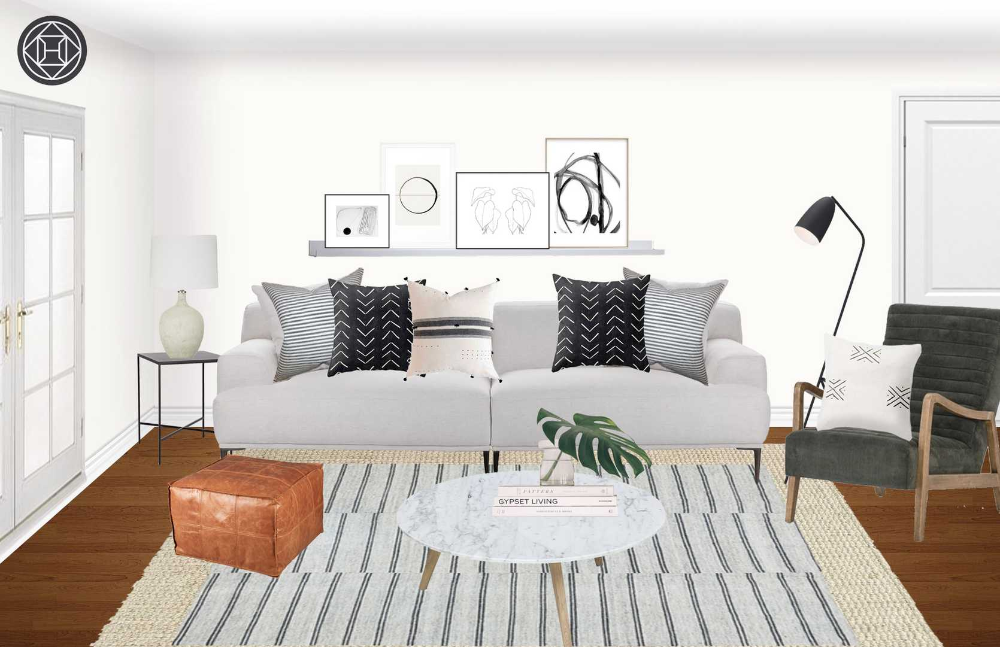 Minimal, Scandinavian Living Room Design by Havenly Interior Designer Kate