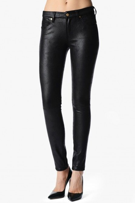 New Vegan Leather and Suede Seam Skinny by 7 For All Mankind | Denim Blog.com
