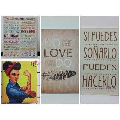 Cuadros Decorativos Frases Vintage Modernos Personalizados
