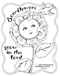sonflower biblical coloring pages
