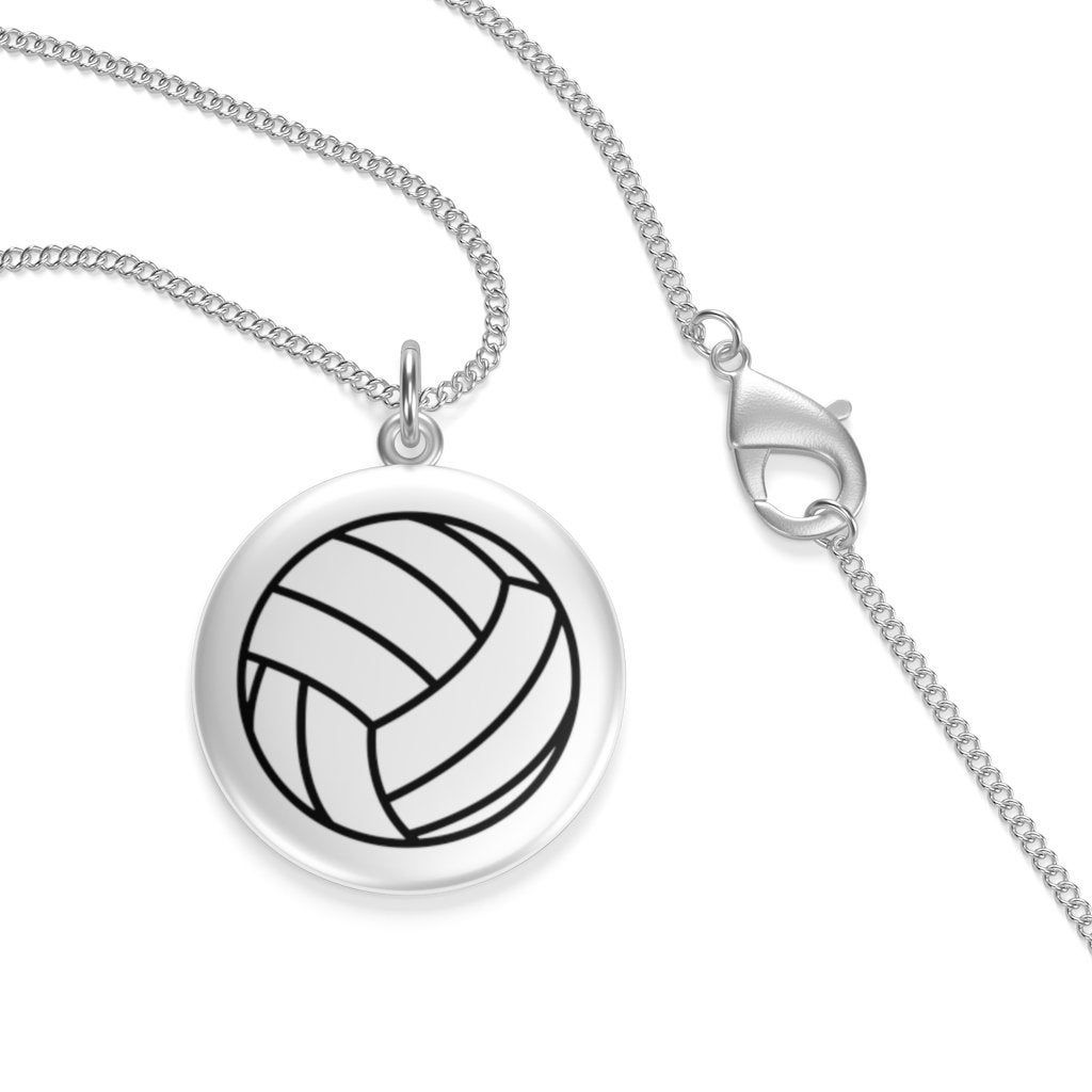 Volleyball Necklace Volleyball Pendant Silver Necklace Volleyball Jewelry Volleyball Accessories Volleyball Gifts Volleyball Mom I 2020 Med Bilder