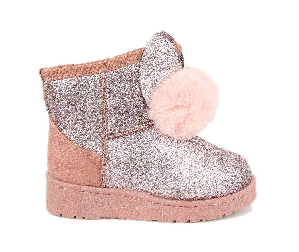 Ζεστά Παιδικά μποτάκια ροζ γκλιντερ. Διαχρονικά και πολύ ζεστά μποτάκια με  γούνα ροζ για καθημερινές ae74da02fc4