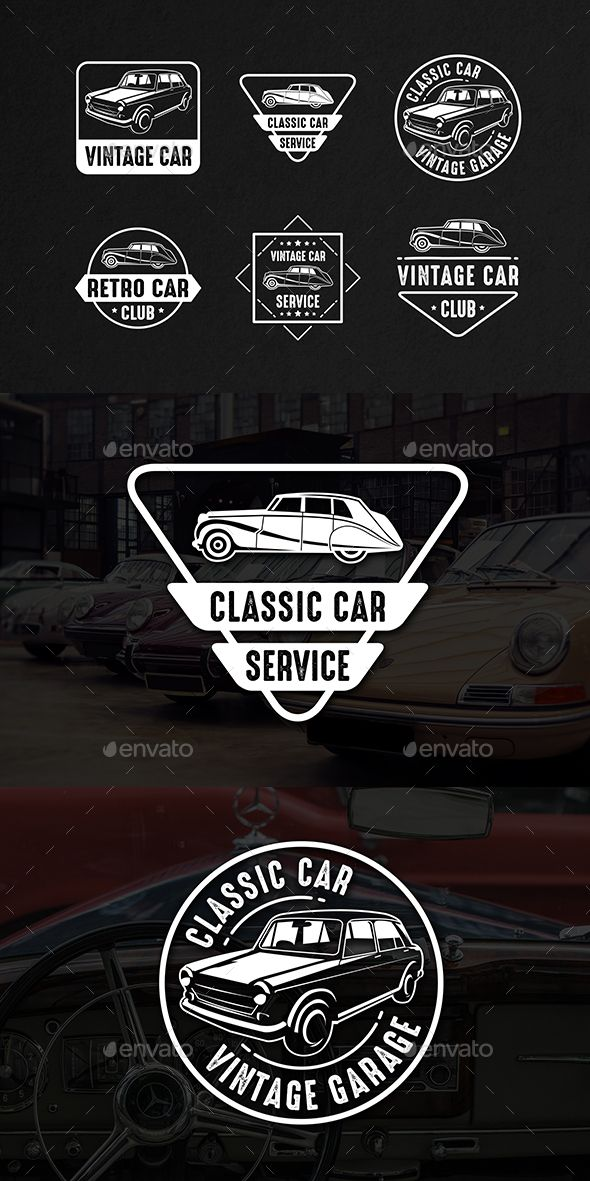 Classic Car Vintage Logo & Badge   Badges, Logos and Template