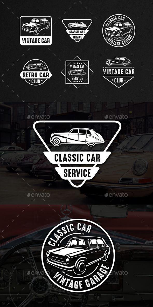 Classic Car Vintage Logo & Badge service design Download