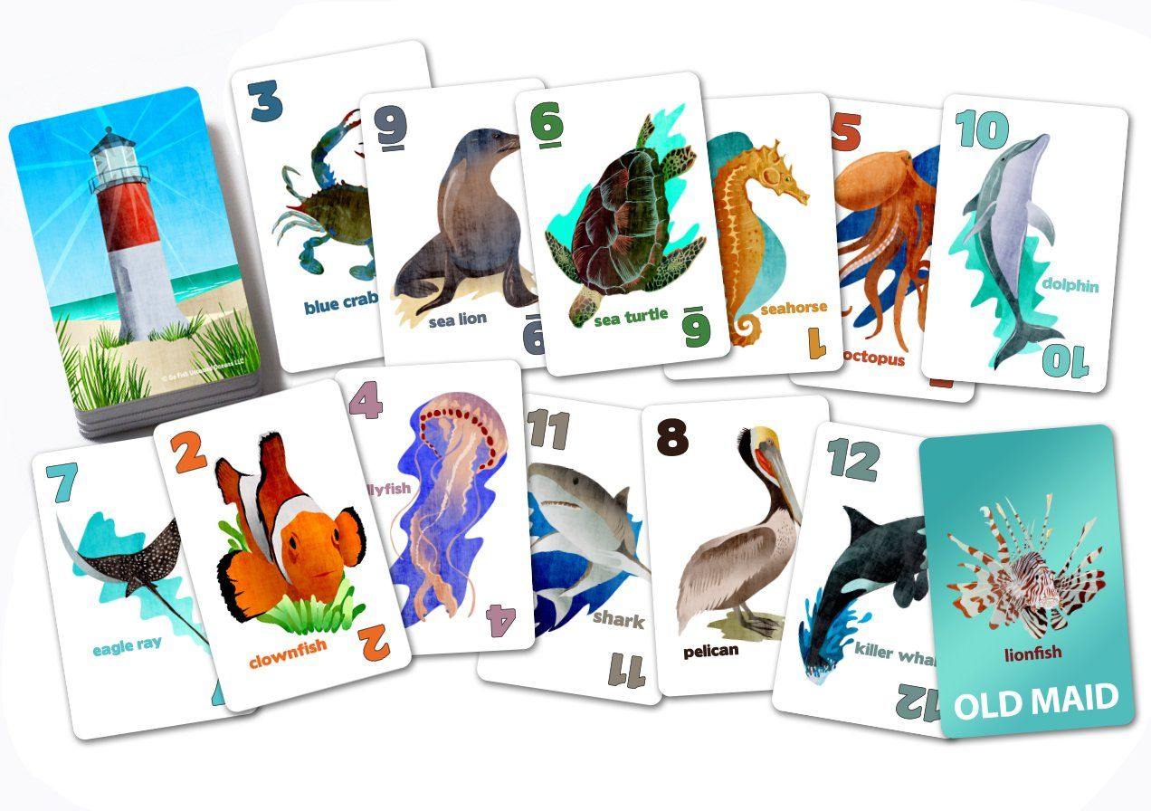 Go fish untamed oceans a 4in1 classic card game for kids