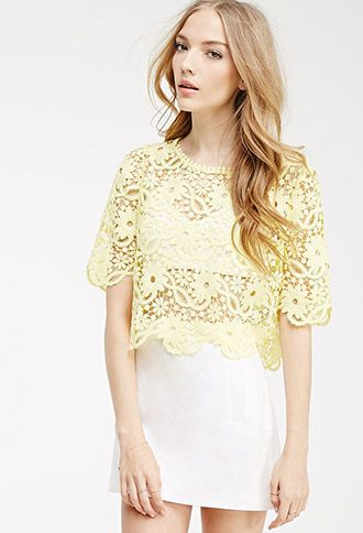 Boxy Floral Crochet Top | FOREVER21 | #thelatest