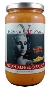 Product Review Victoria Vegan Roasted Pepper Alfredo Sauce Roasted Peppers Vegan Roast Alfredo Sauce