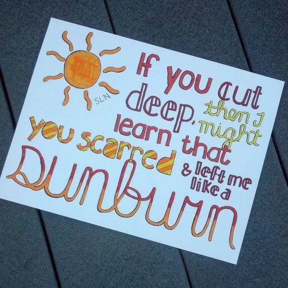 Sunburn- Ed Sheeran ✓ | Addiction | Pinterest | Lyric art and Songs