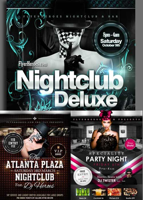 download nightclub 3in1 v3 flyer templates free download nightclub
