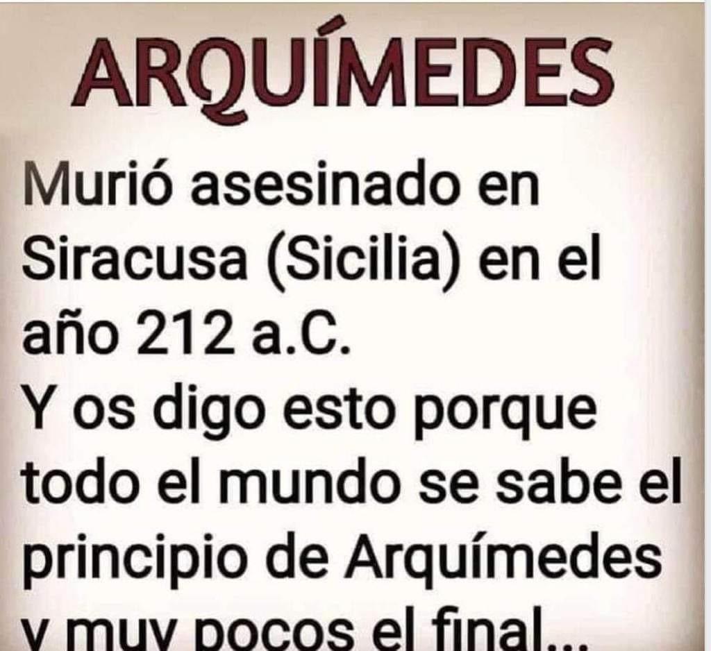 Fin De Arquímedes Principio De Arquimedes Arquimides El Principito
