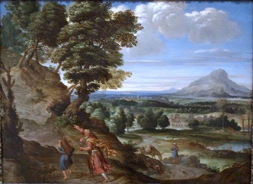 Artist Domenichino Domenico Zampieri 1602 Abraham Leading Isaac