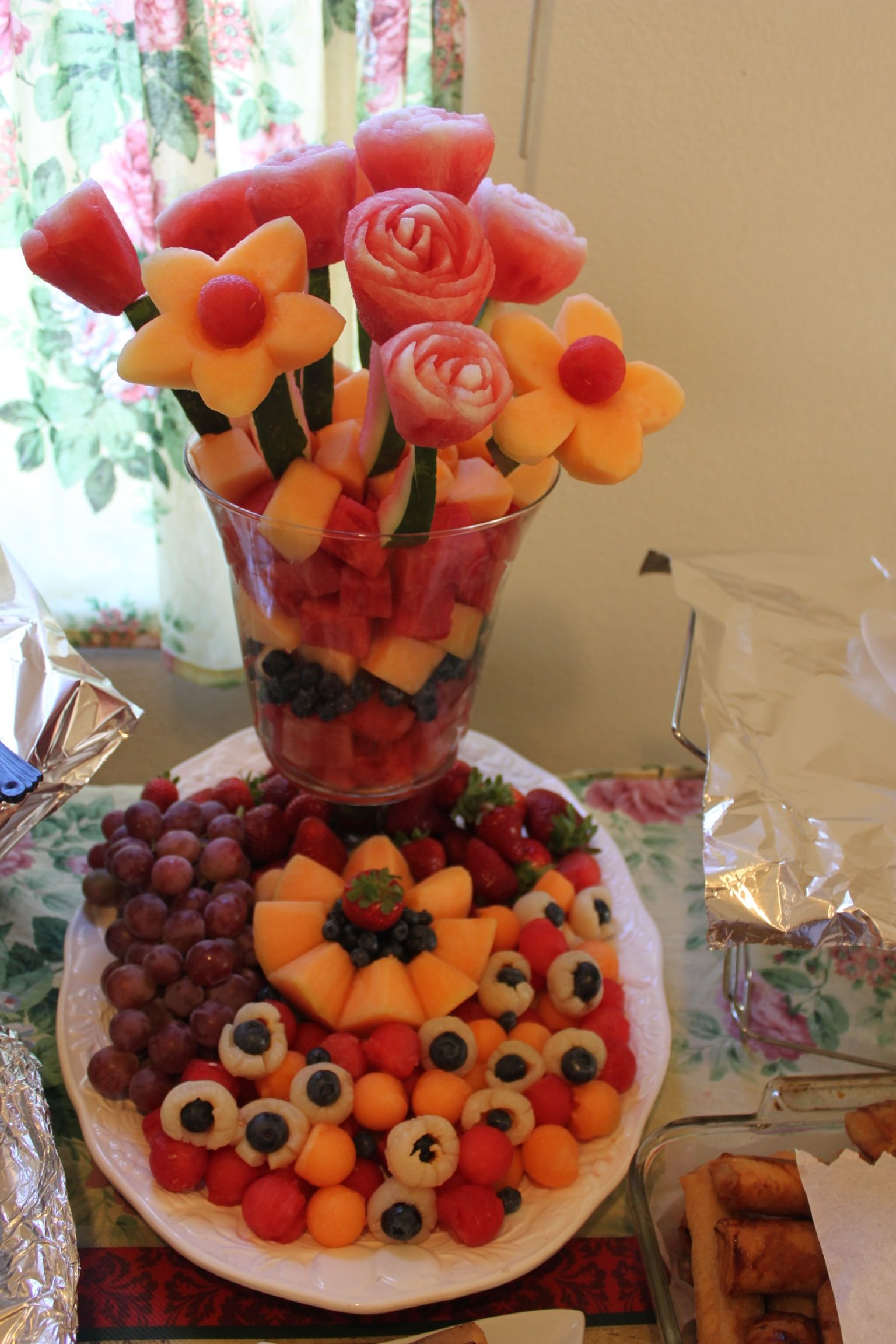 Carving Fruitswater Melon Rose