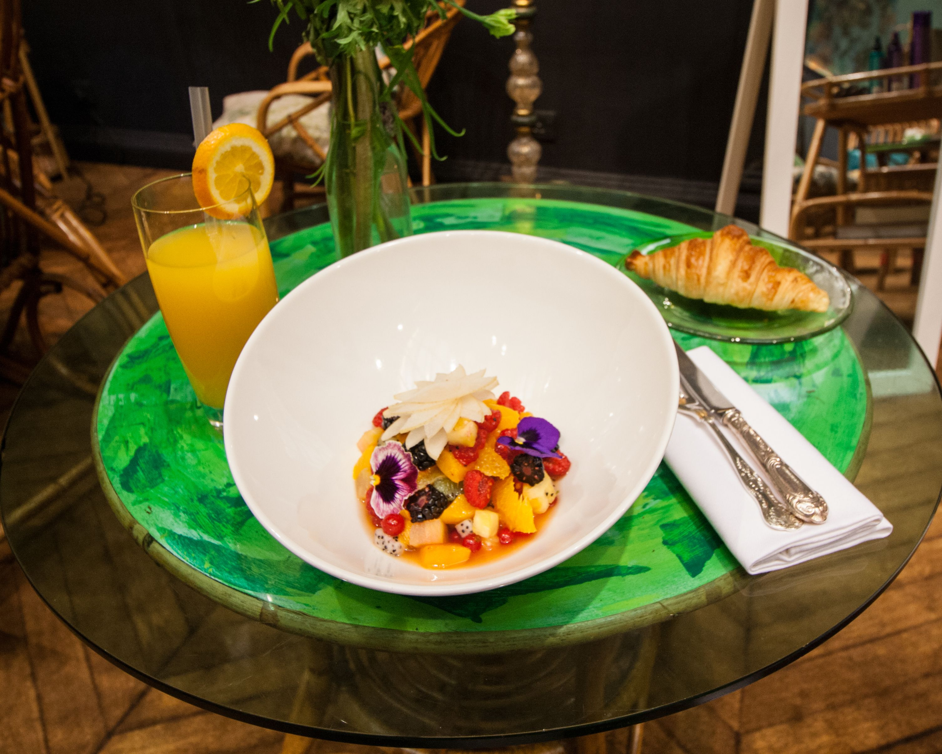Fruit Salad From The Breakfast Menu In The Glade At Sketch