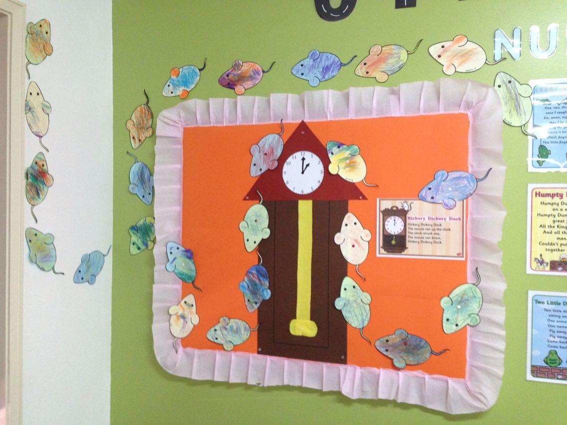 Nursery Rhyme Hickory Dickory Dock & Nursery Rhyme Hickory Dickory Dock   Classroom/Door Displays ...