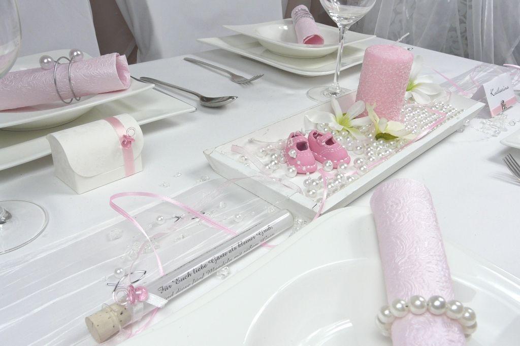 Taufe und Taufdekoration  Gastgeschenke und Tischdekoration Tischdekoonlinede  Tisch 9 in