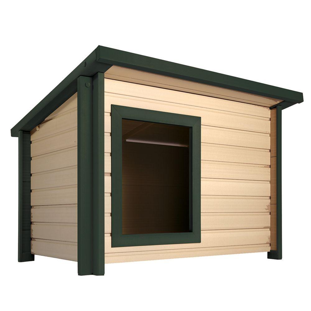 New Age Pet Ecoflex Rustic Lodge Dog House Size 32 9 L X 42 W X