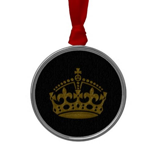 Keep Calm Remain Queen Style 1 Metal Ornament Queens King Book