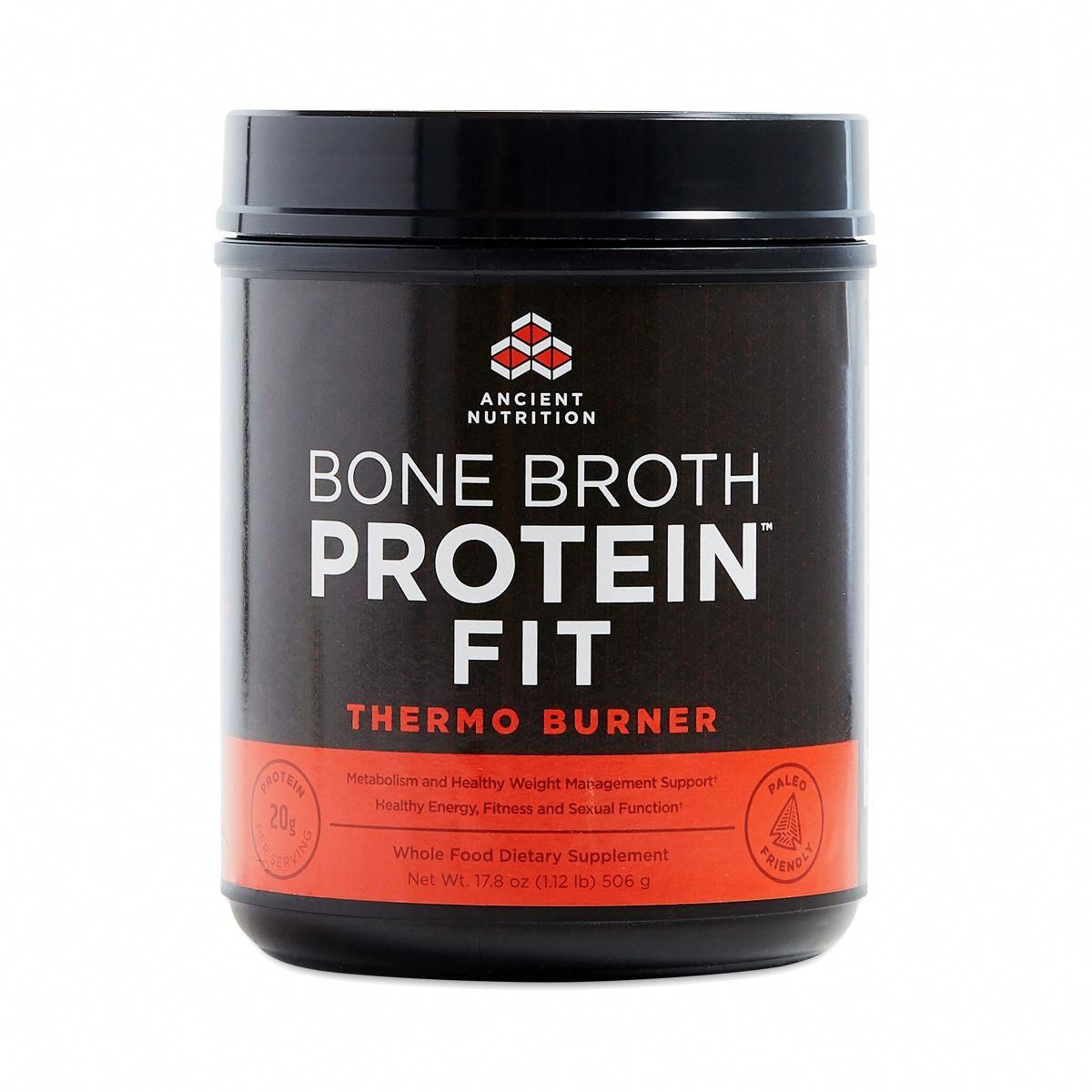 Ancient nutrition bone broth protein fit thermo burner