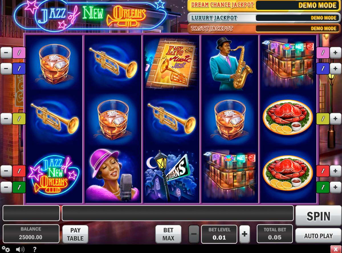 Jazz of New Orleans - on tosi hyvää ja valtava online kolikkopeli netissä! Kokeille pelata tämän hyvää kolikkopeli verkossa ja näet kuinka helppo pelata erilaiset pelit online ja voitta rahat! Kasinopelissa on hyvää grafiikka, erilaiset bonukset, 5 rulla ja 5 voittolinjat!