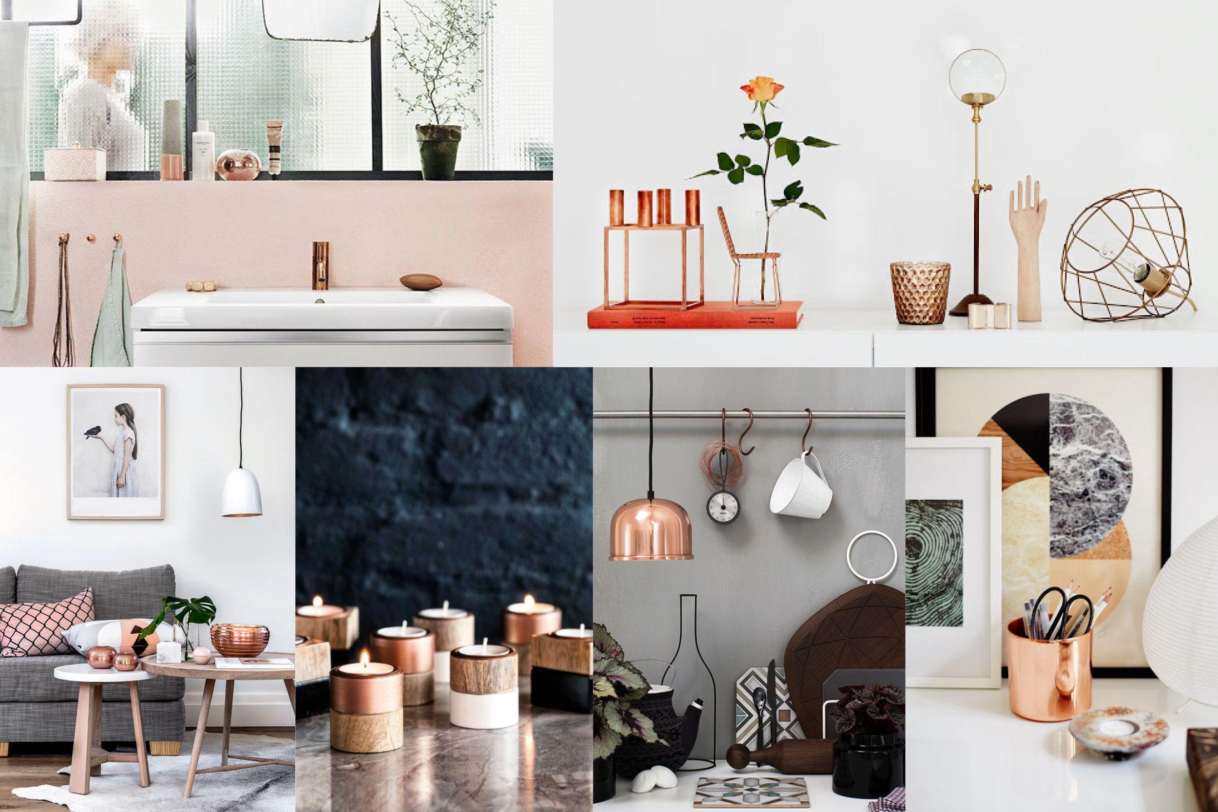 La tendance cuivre et laiton en d coration s a l o n s a l l e m a n g e r decoration - Deco salon cuivre ...