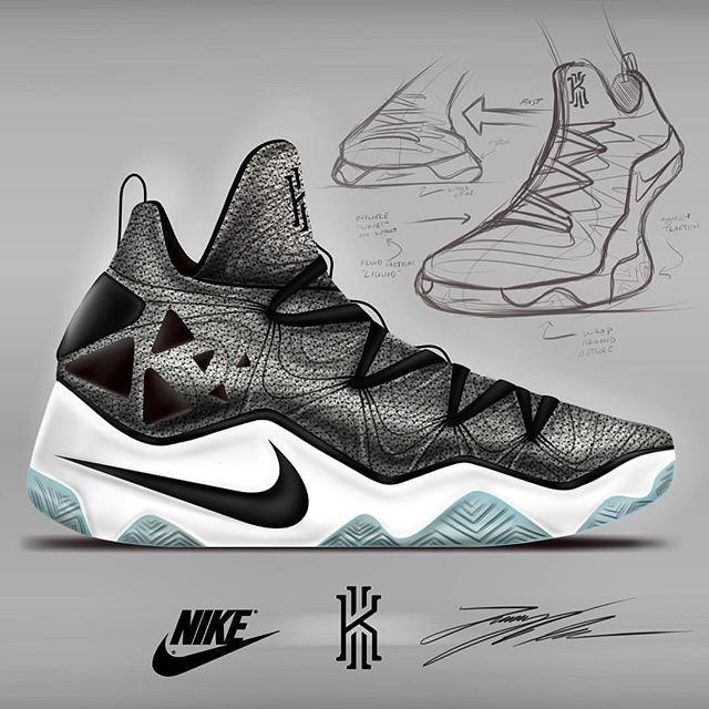 Nike Basketball Shoe Drawing