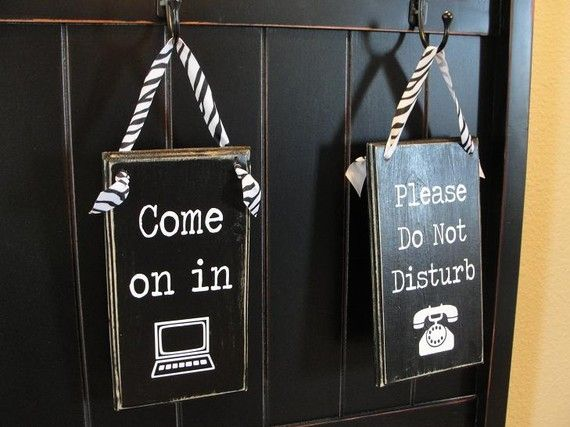 Home Office Do Not Disturb Sign By Piccadillypeddler On Etsy 16 00