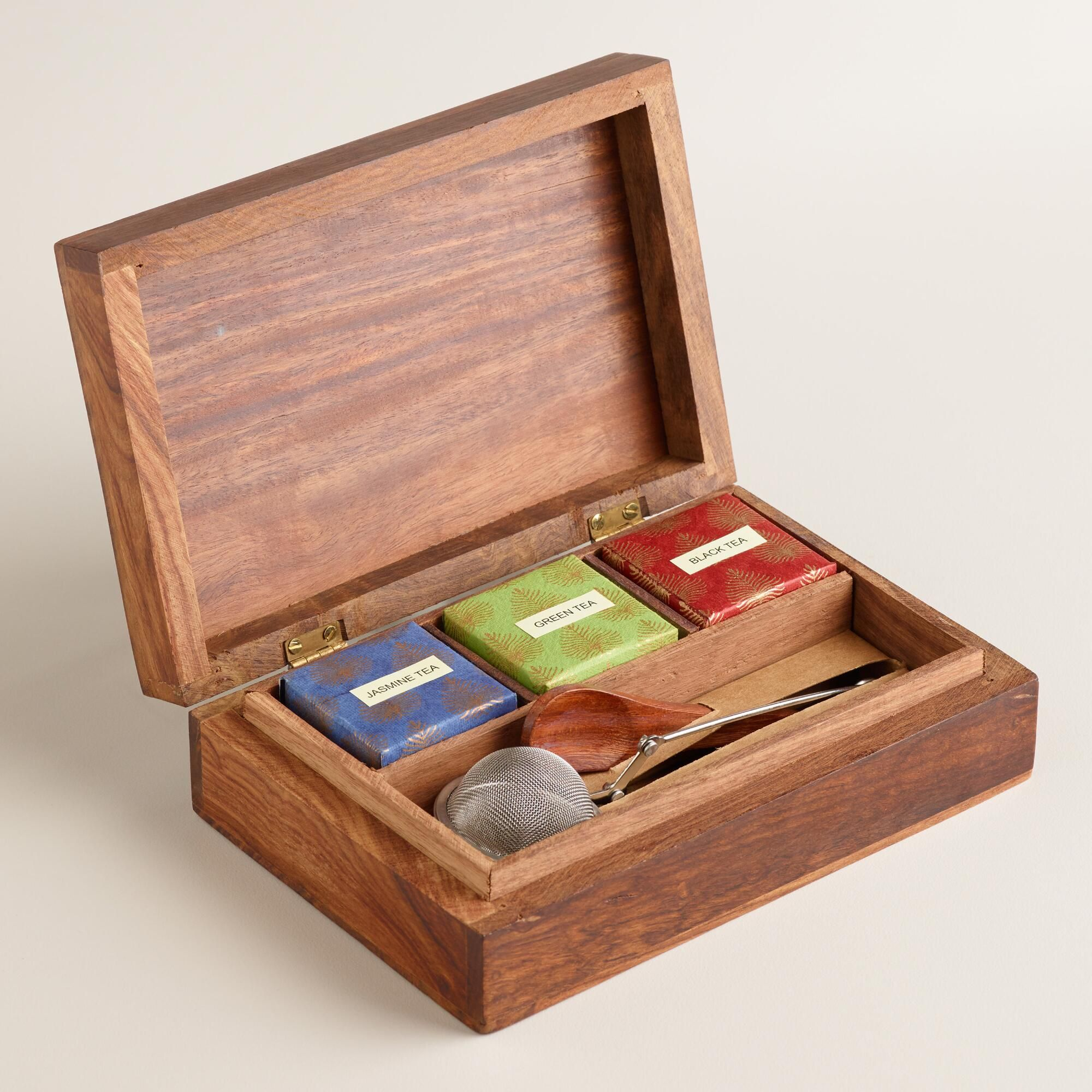 Merveilleux Our Exclusive Chinese Tea Service Gift Set Includes Jasmine, Black And  Green Loose Leaf Teas Inside A Beautiful Wooden Storage Box With An  Intricate, ...