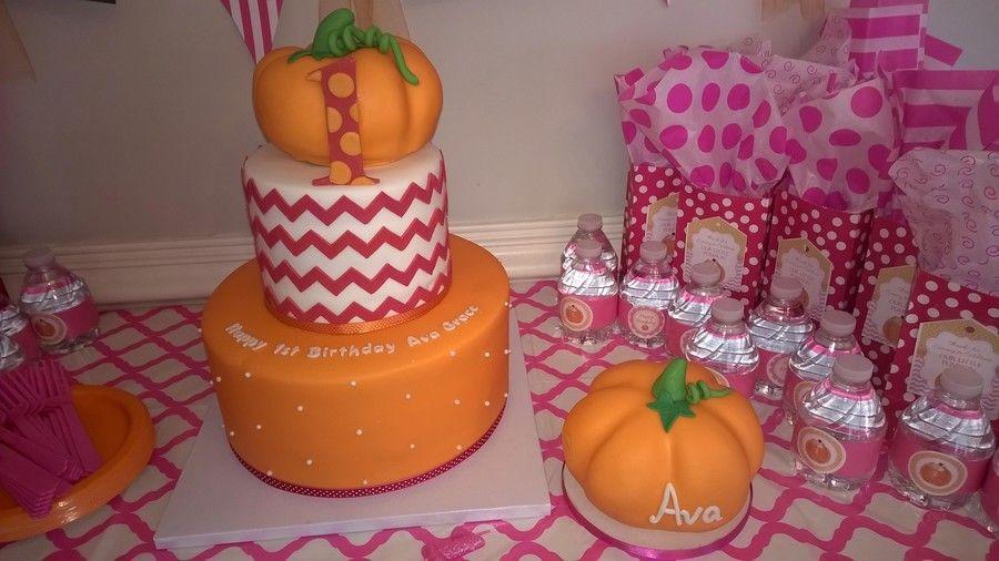 Little Pumpkin First Birthday Cake And Smash Cake