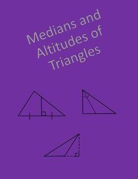 Geometry Worksheet Medians And Altitudes Geometry Worksheets