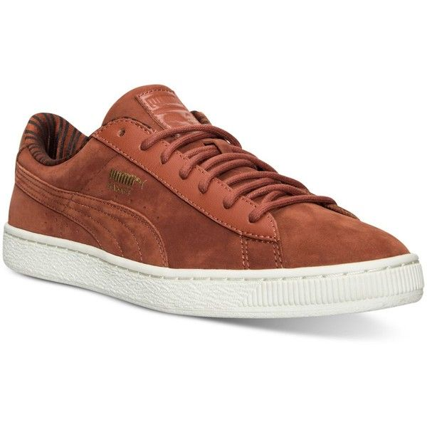 Puma Men's Basket Classic Citi Series Casual Sneakers from Finish Line (110 CAD) ❤ liked on Polyvore featuring men's fashion, men's shoes, men's sneakers, arabian spice, mens shoes, vintage mens sneakers, puma mens shoes, mens perforated shoes and mens sneakers