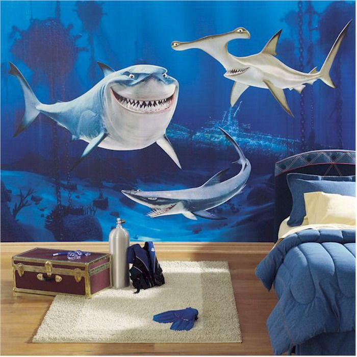 Superior Shark Tale Wall Mural Part 18