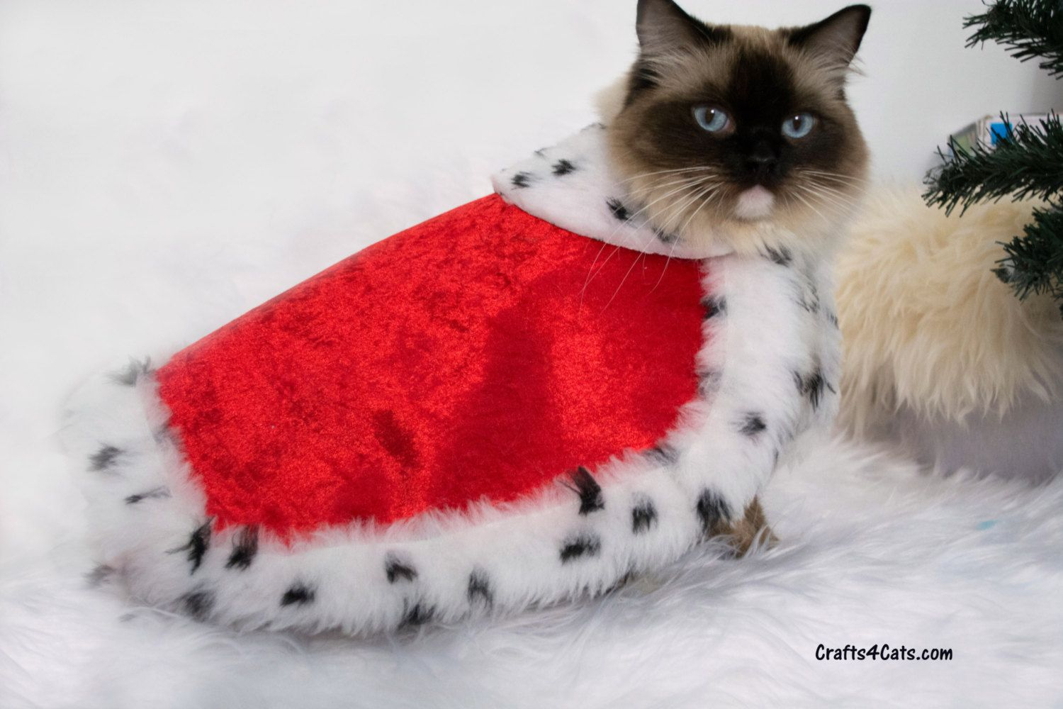 cat christmas cape royal cloak costume velvetvelour drape fabric cloak for cats by crafts4cats on etsy
