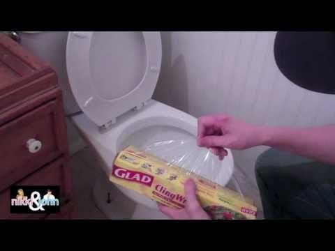 Superb Saran Wrap Toilet Prank Prankstersinlove Good Pranks Pdpeps Interior Chair Design Pdpepsorg