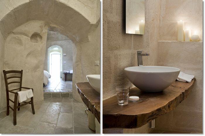 Le sale da bagno dell 39 hotel corte san pietro a matera un for Immagini di bagni arredati