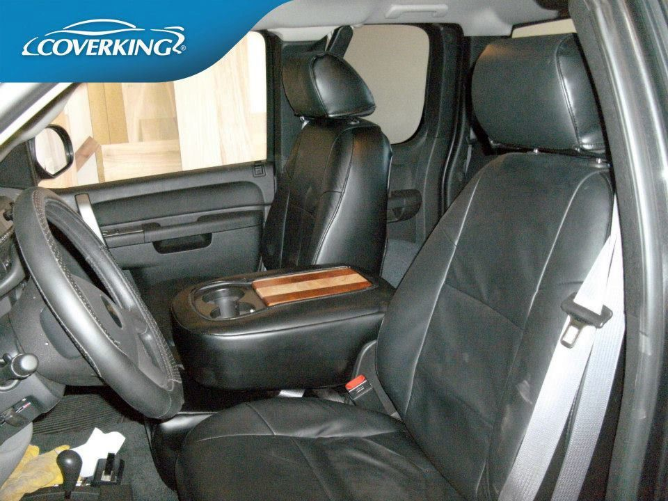 Sensational Coverking Genuine Leather Custom Slip On Front Seat Covers Caraccident5 Cool Chair Designs And Ideas Caraccident5Info