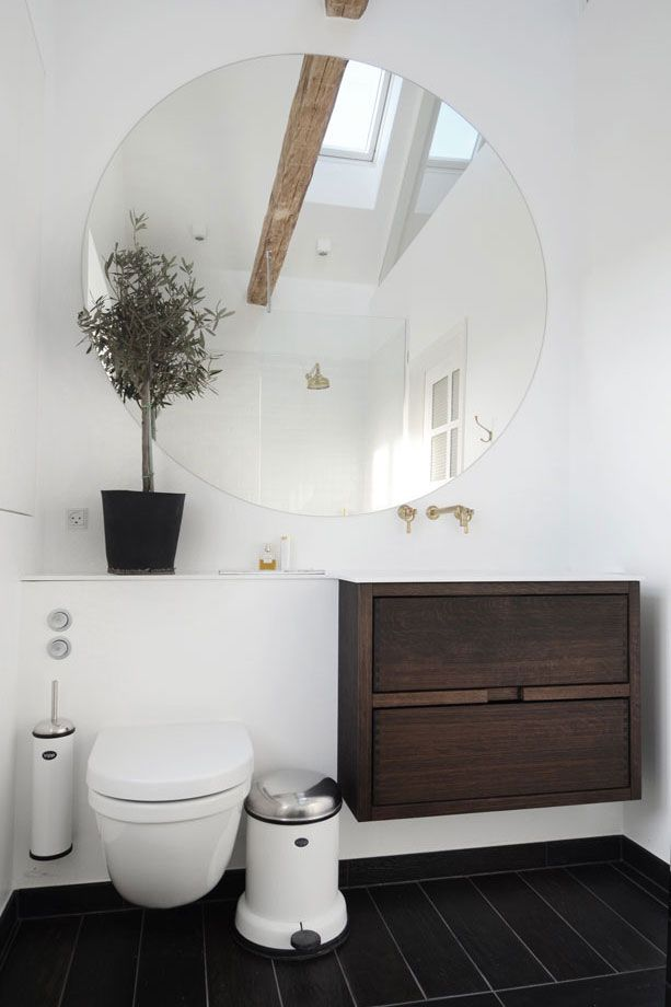 Nice Big Mirror And Some Green Plant Sureshot Way To Make Your Alluring Designing Your Bathroom Inspiration