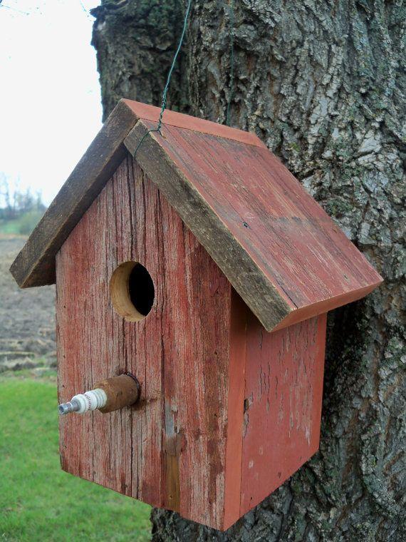 Barnwood Outdoor Birdhouse by BarnwoodInspirations on Etsy, $25.00