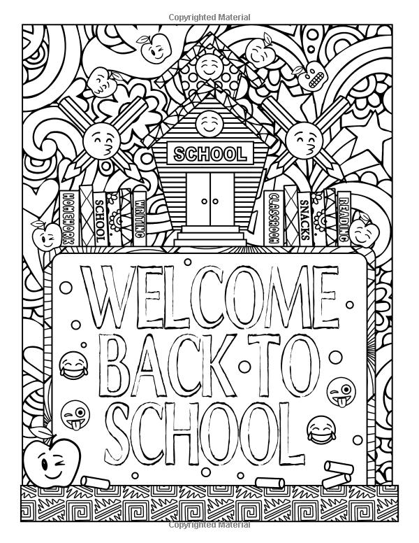 The Amazing Emoji School Coloring Book 24 Page Dani Kates 9781535420587