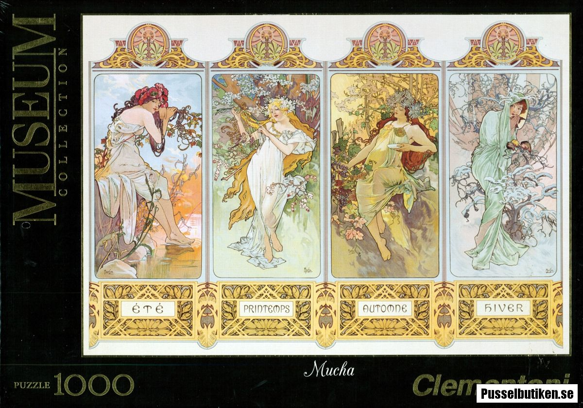 Clementoni: Mucha - The Four Seasons (1000) - Pusselbutiken.se
