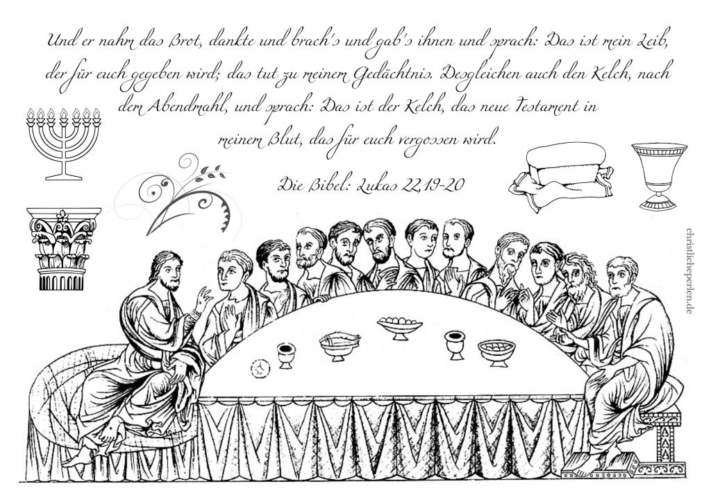 ostern  christliche perlen  malvorlagen abendmahl jona